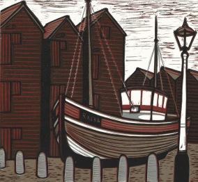 Boat and Huts